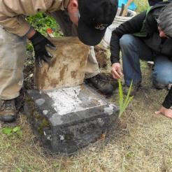 Setting the plinth.