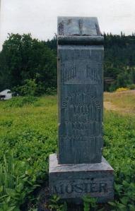 Jonah Mosier's Grave Marker