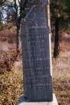 Benjamin Mosier's Grave marker